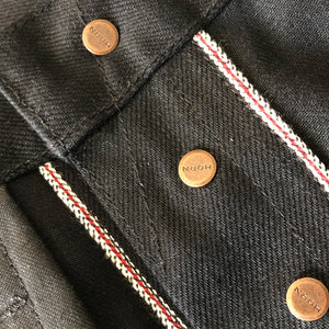 Horn_Dude_Raw_Selvage_Denim_Jean_In_Black_Fly_Detail