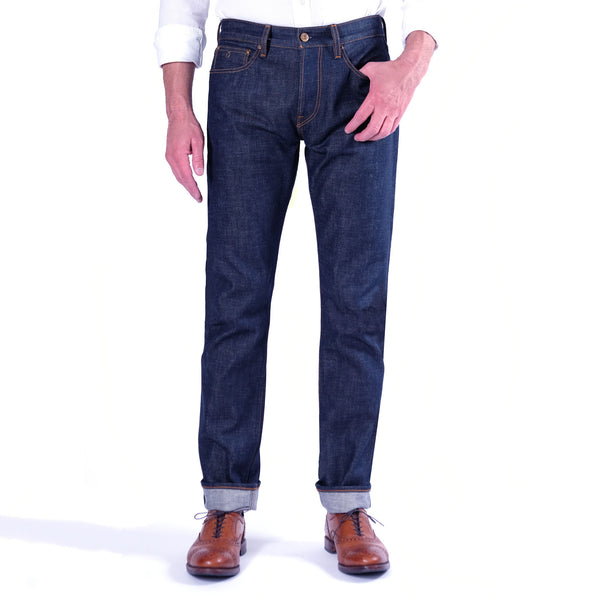 Horn_Dude_Raw_Selvage_Denim_Jean_ Front