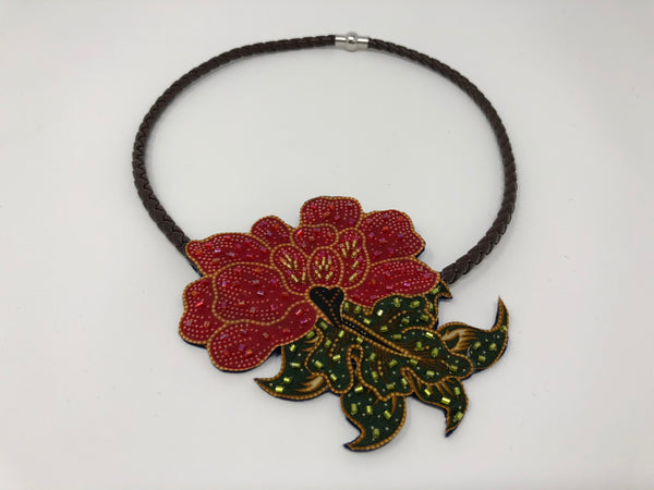 Small Traditional Batik Necklace