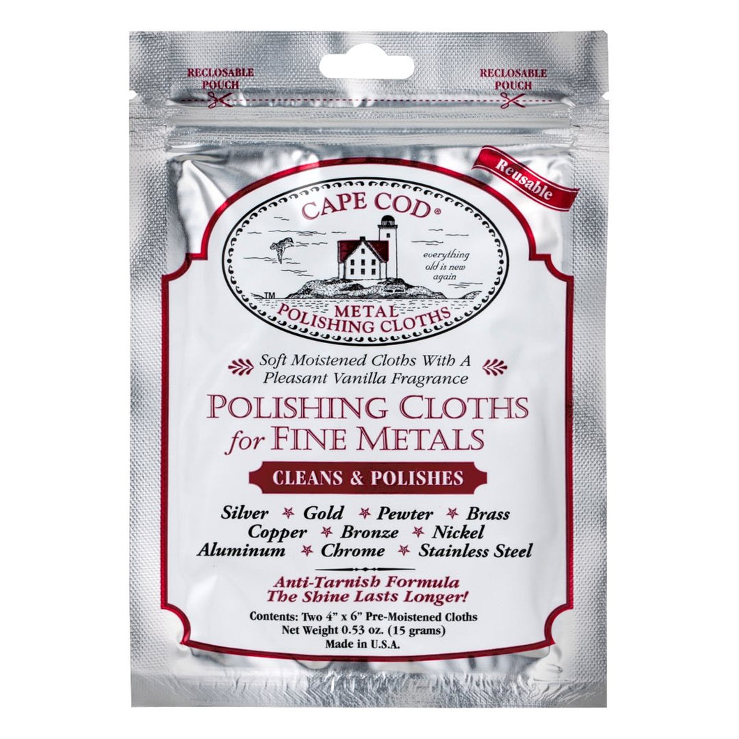 Cape Cod Metal Moist Polishing Cloths