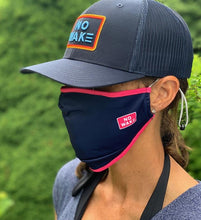 "Load image into Gallery viewer, ""Mojo"" Adult Face Mask (Navy/Pink)"