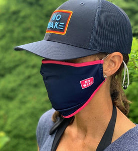 """Mojo"" Adult Face Mask (Navy/Pink)"