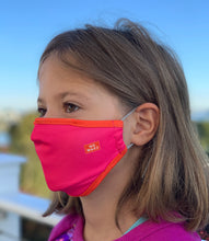 "Load image into Gallery viewer, ""Ace"" Youth Face Mask (Pink/Orange)"