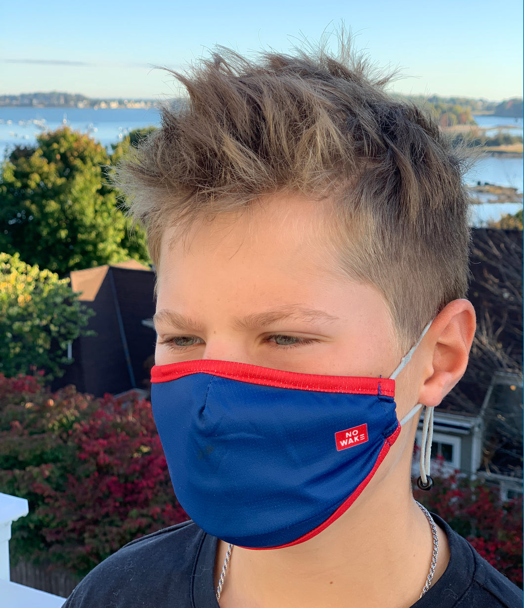 """Baller"" Youth Face Mask (Royal/Red)"