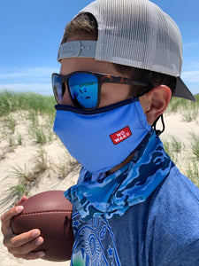 """Chill"" Face Mask (Light Blue)"