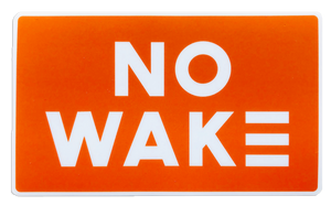 Orange No Wake Sticker