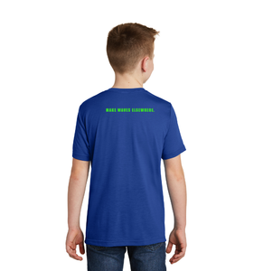 """The Legend"" Royal Blue Youth Performance T-shirt"