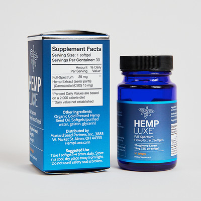 Full-Spectrum Hemp Extract Softgels | 30 Count | 750mg