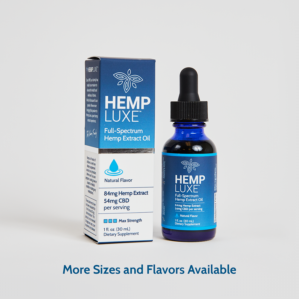 Full-Spectrum Hemp Extract Oil | MAX STRENGTH | 1 Oz