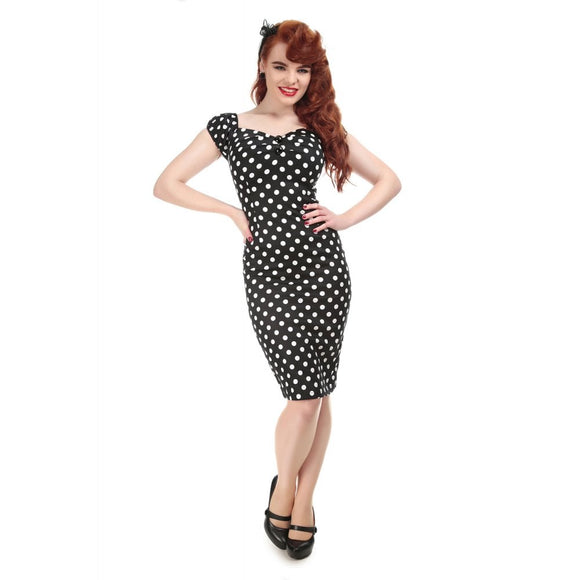 of MAINLINE DOLORES DRESS POLKA Black