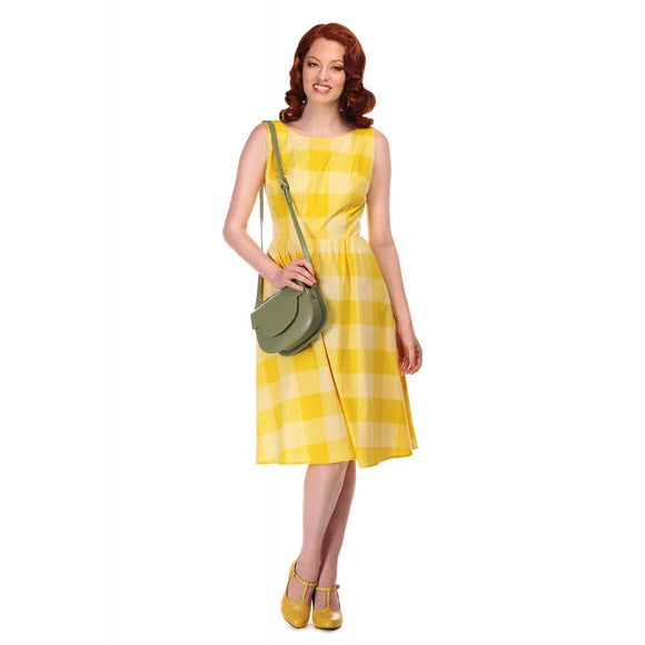 VINTAGE GINEVRA SUN CHECK SWING DRESS