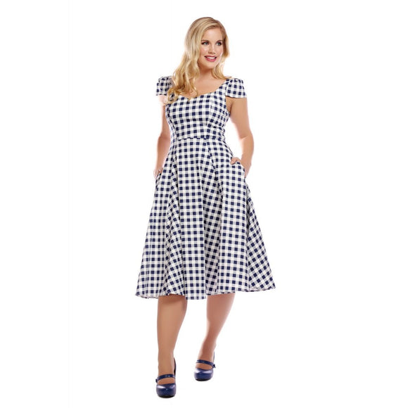 MAINLINE MONIA GINGHAM SWING DRESS