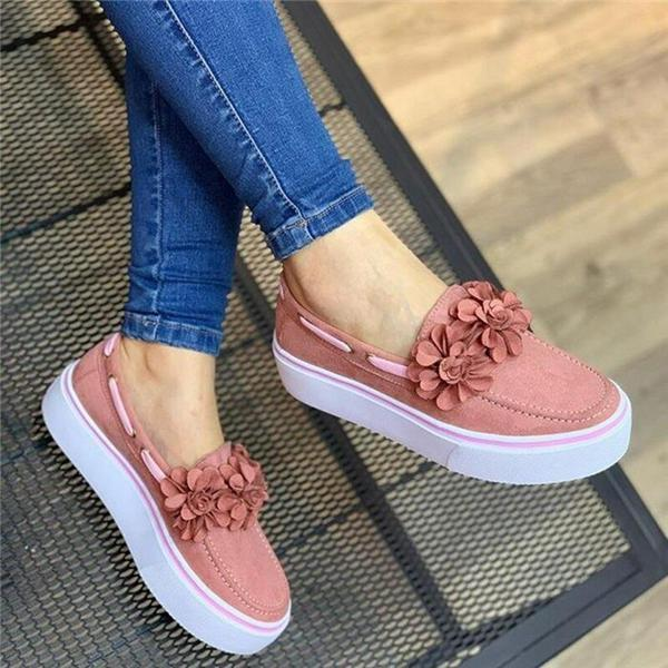 Vicsrack Spring Women Flats Shoes Platform Sneakers