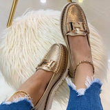 Zoiefashion Slip-On Platform Leather Loafers