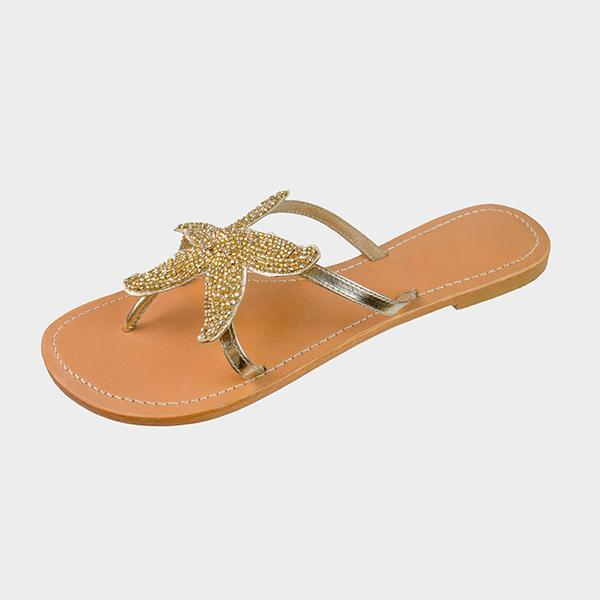 Zoiefashion Women Starfish Beach Flat Sandals