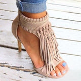 Zoiefashion 2021 Fashion Open Toe Tassels Ankle Ladies Sandals