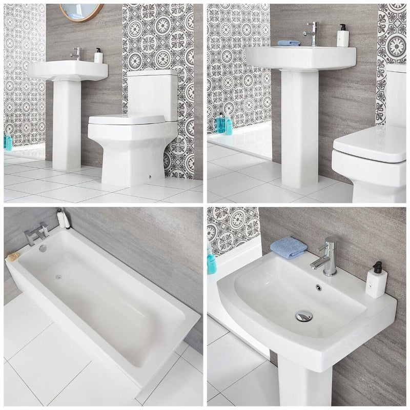 Deal Of the Month - Denza Straight Bathroom Suite