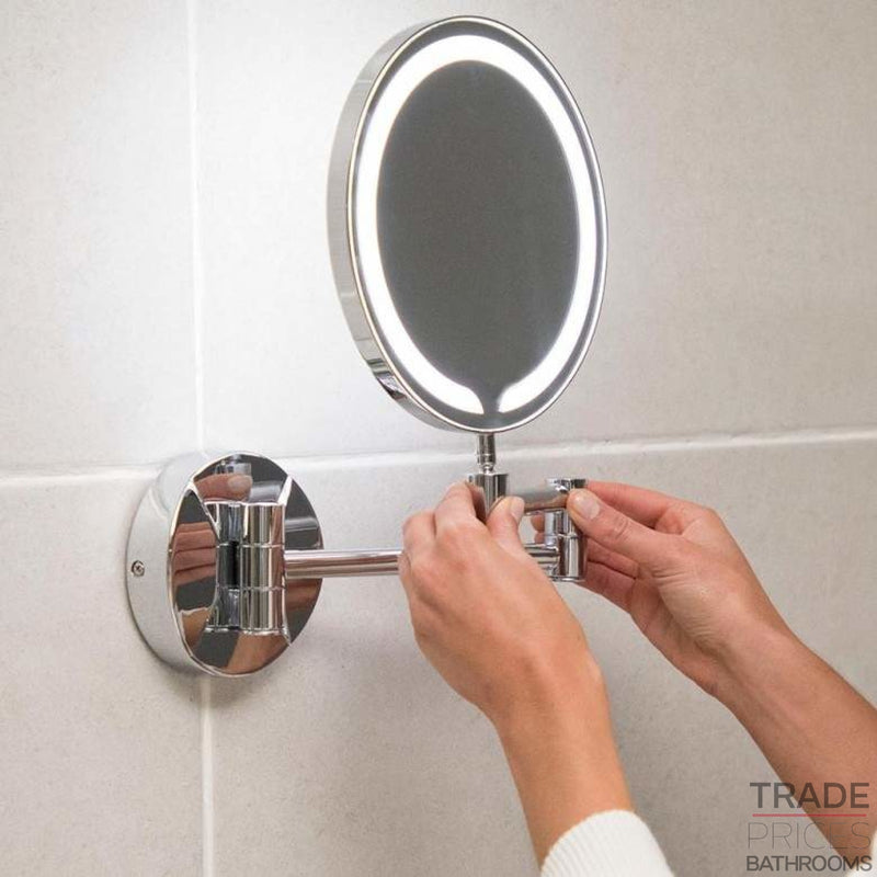 Round LED Make-Up Wall Mounted Mirror  Tradeprices Building Supplies & Services Limited