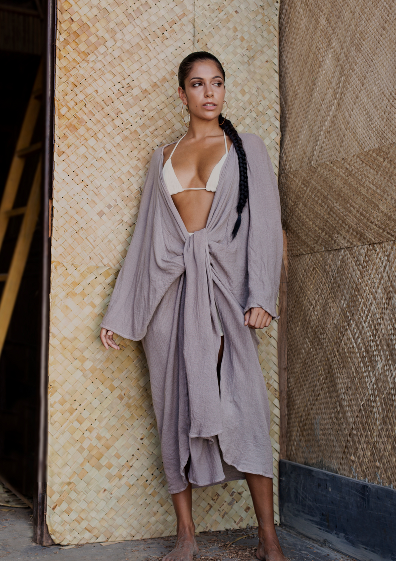 AYA BIAS SILK MINI - INDIAN TAN POLKA