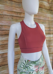 Rust X-Back Sports Bra