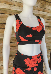 Sunset Hibiscus Sports Bra