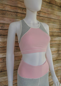 Pink & Pinstripes Sports Bra