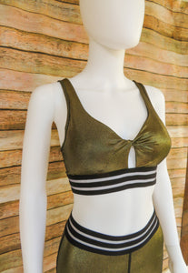 24K Gold Everything Sports Bra