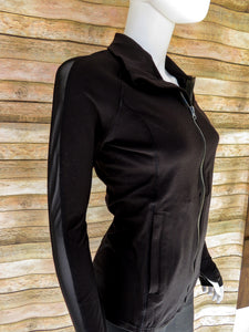 Black Mesh Sleeve Jacket