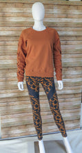 Load image into Gallery viewer, Camel Lace-Up Sleeve Sweatshirt