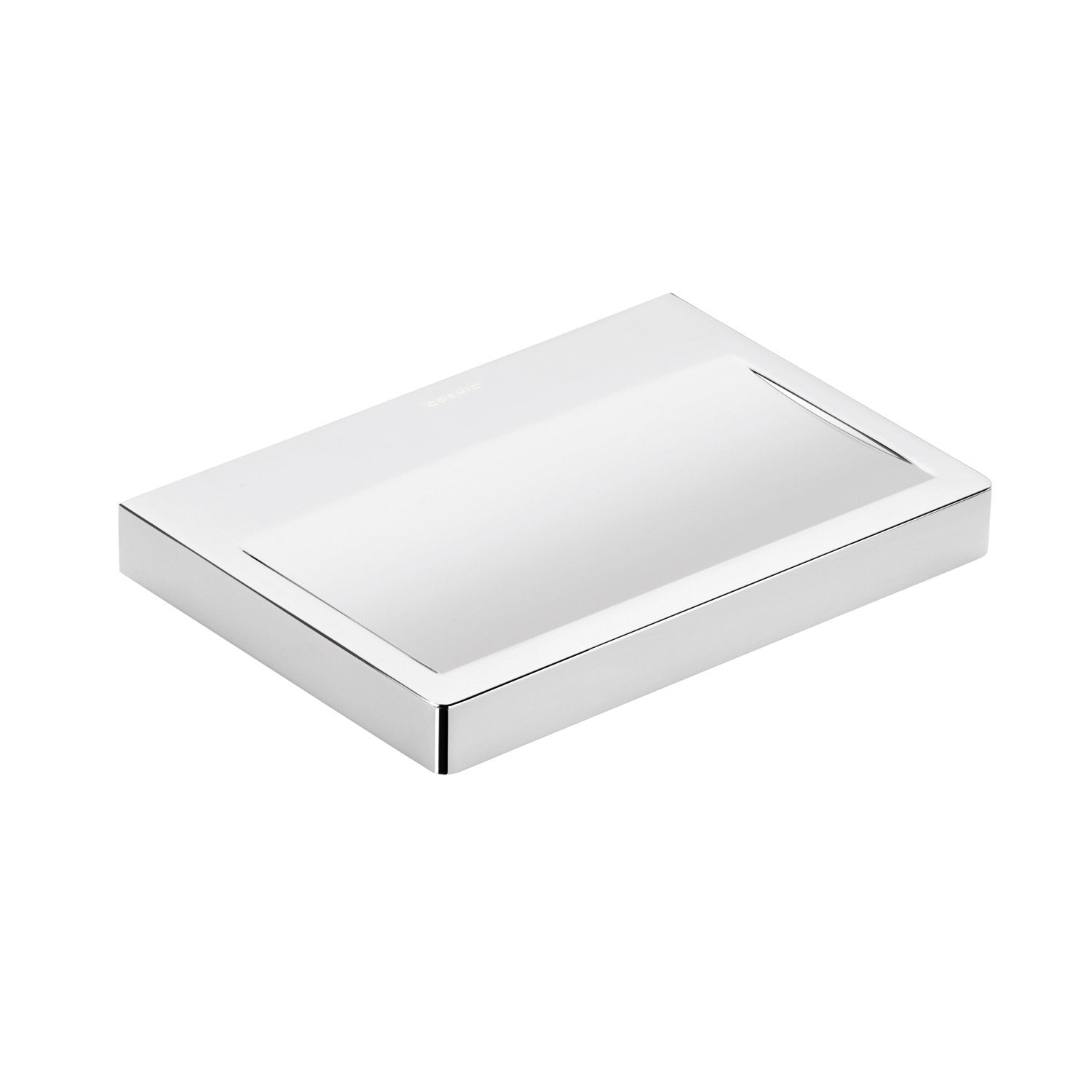 COSMIC Extreme Soap Dish, Wall Mount, Brass Body, Chrome Finish, 5-1/2 x 13/16 x 3-15/16 Inches (2530132)