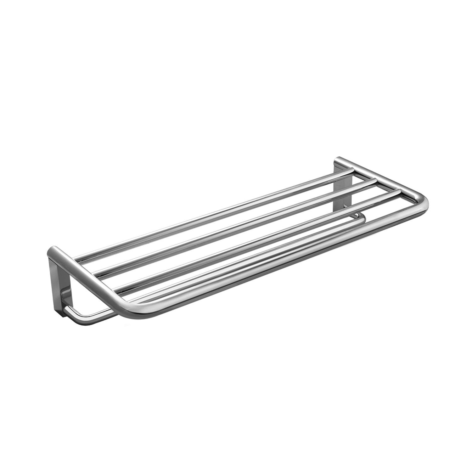 COSMIC Project  Towel Rack with Shelf, Wall Mount, Brass Body, Chrome Finish, 23-5/8 x 4-5/16 x 9-13/16 Inches (2510168)