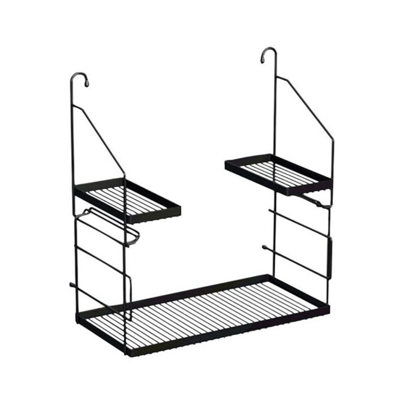 Alape 8902 000 980 Utensilo Matte Black Powder Coated Steel Shelf