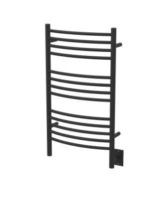 Amba Towel Warmers CCMB Jeeves Model C Curved Matte Black