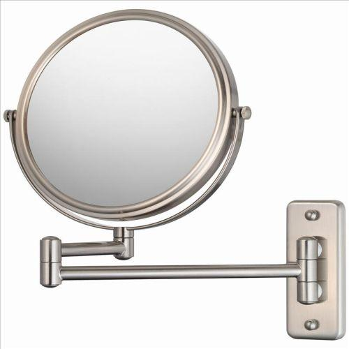 Mirror Image 21175 Double Arm Wall Mirror 5X / 1X Brushed Nickel