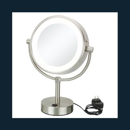 Kimball & Young 745-35-45 Neomodern Warm LED Lighted Freestanding Mirror - Chrome