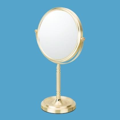 Mirror Image 866135 RECESSED BASE FREE STANDING MIRROR - BRUSHED BRASS