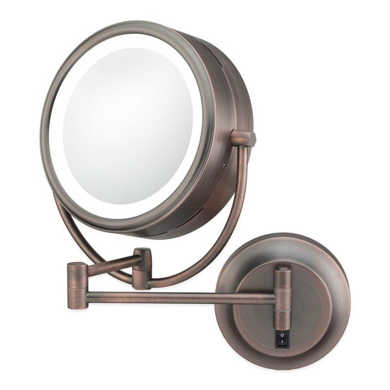Kimball & Young 945-35-15HW Neomodern Warm LED Lighted Wall Mirror - Italian Bronze