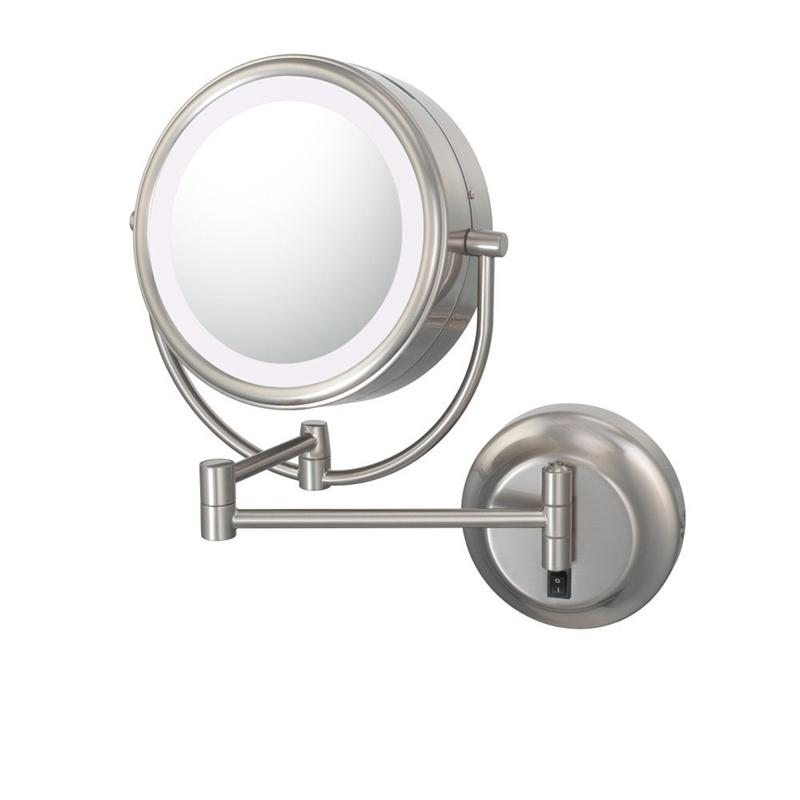 Kimball & Young 945-55-75HW Neomodern Cool LED Lighted Wall Mirror - Brushed Nickel