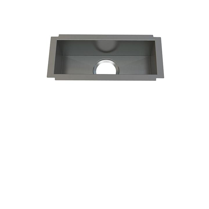 "Aquabrass ABEKU10081606SS Undermount Single Bowl 8""X16""X6"" Kitchen Brushed Stainless Steel"