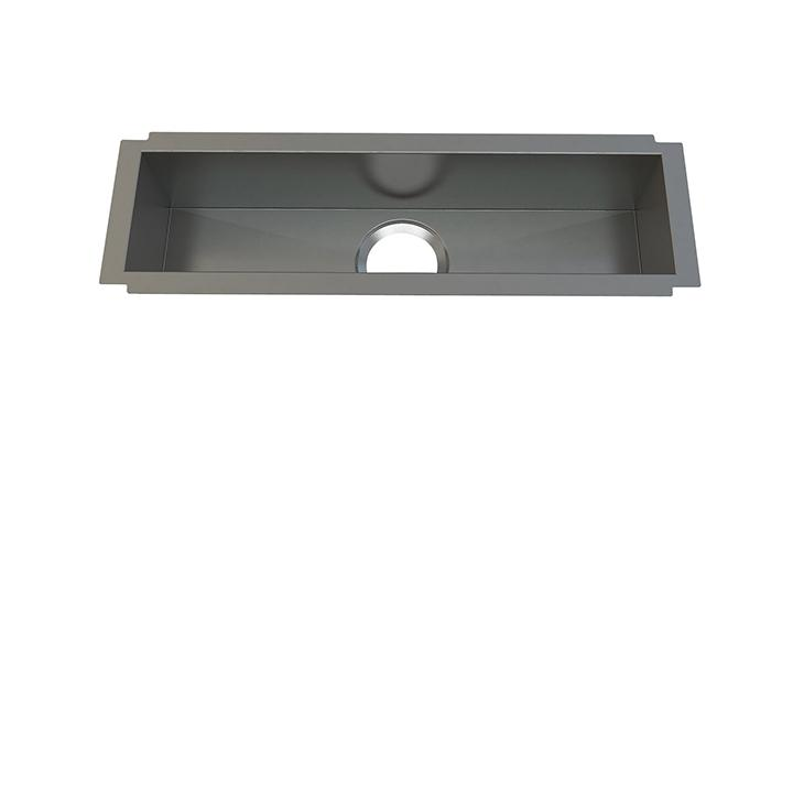 "Aquabrass ABEKU10082606SS Undermount Single Bowl 8""X26""X6"" Kitchen Brushed Stainless Steel"