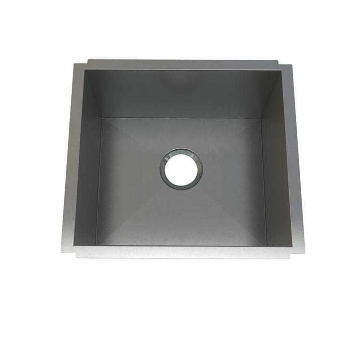 "Aquabrass ABEKU10201810SS Undermount Single Bowl 20""X18""X10"" Kitchen Brushed Stainless Steel"