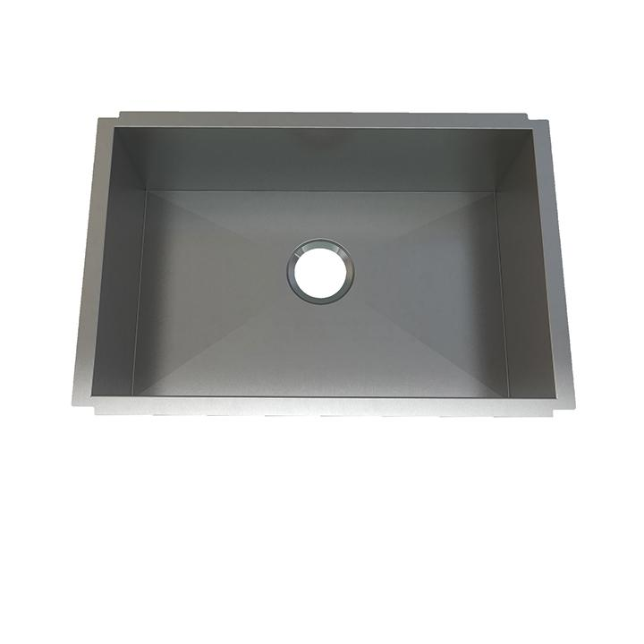 "Aquabrass ABEKU10271810SS Undermount Single Bowl 27""X18""X10"" Kitchen Brushed Stainless Steel"