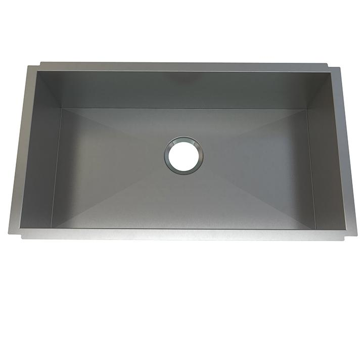"Aquabrass ABEKU10321810SS Undermount Single Bowl 32""X18""X10"" Kitchen Brushed Stainless Steel"