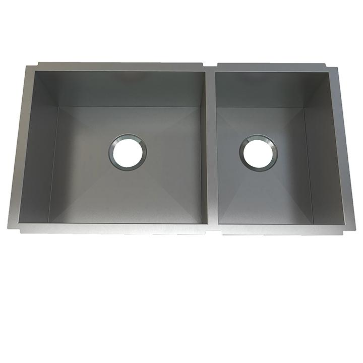 "Aquabrass ABEKU15331810SS Undermount 1-1/2 Bowl 33""X18""X10"" Kitche Brushed Stainless Steel"