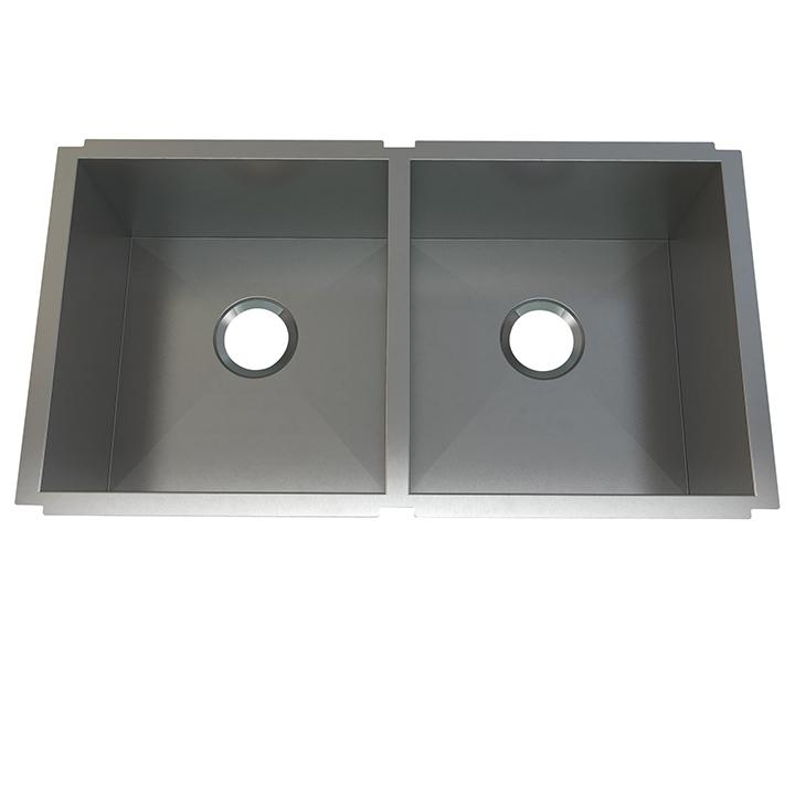 "Aquabrass ABEKU20331810SS Undermount Double Bowl 33""X18""X10"" Kitchen Brushed Stainless Steel"