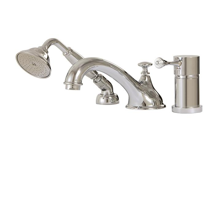 Aquabrass ABFB07313PC 7313 Regency 3 Pce Tub Filler W/Mixing Valve &Diverter Spout Polished Chrome