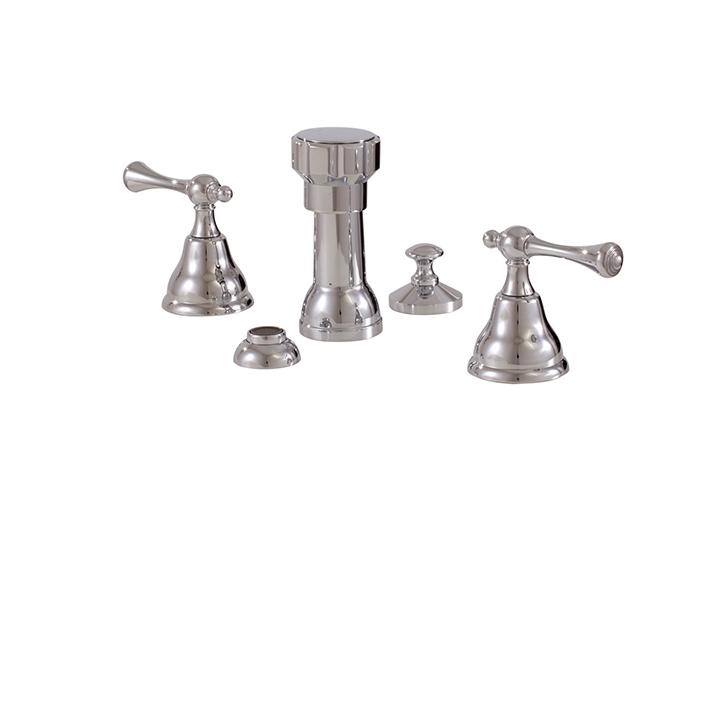Aquabrass ABFB07326BN 7326 Regency 4 Hole Bidet Set Brushed Nickel