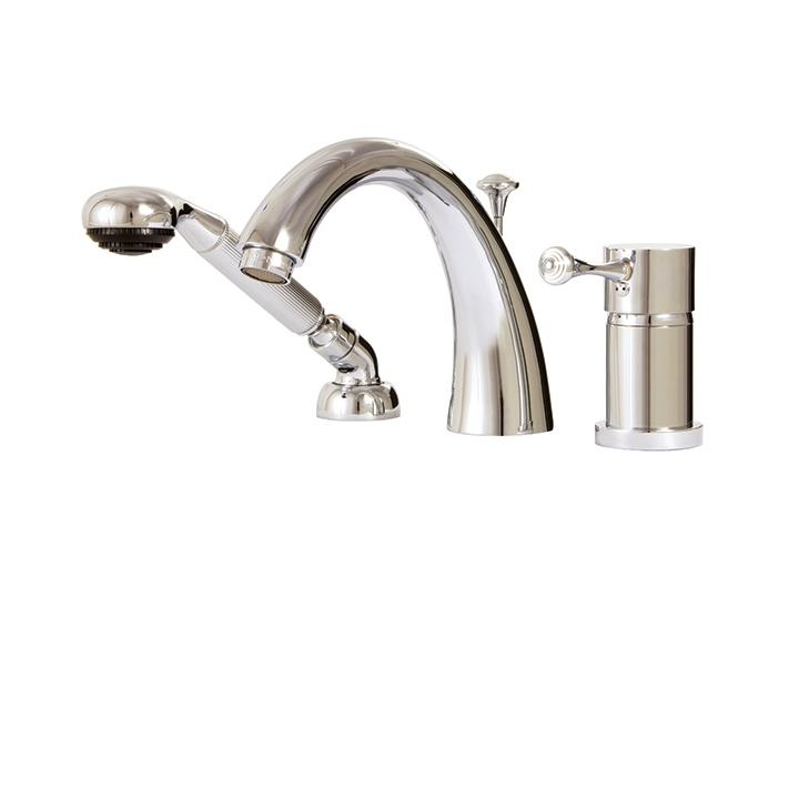 Aquabrass ABFB07813PC 7813 Belmont 3 Pce Tub Filler W/Mixing Valve &Diverter Spout Polished Chrome