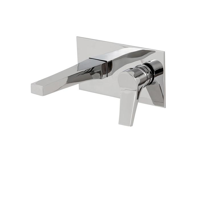 Aquabrass ABFB17029PC 17029 Metro Wallmount Lav Faucet Polished Chrome