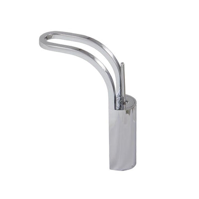 Aquabrass ABFB17720WHPC 17720 String Tall Single-Hole Lav Faucet White / Chrome